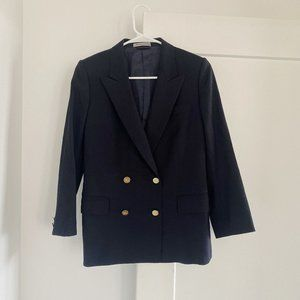 Vintage Burberry Double Breasted Navy Blazer